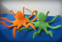 Мастер-класс по сборке модели оригами-осьминога из модулей