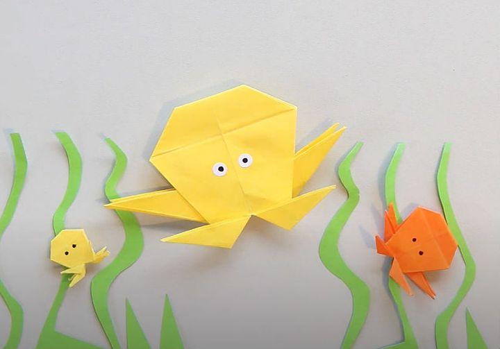 Мастер-класс по сборке модели оригами-осьминога для начинающих
