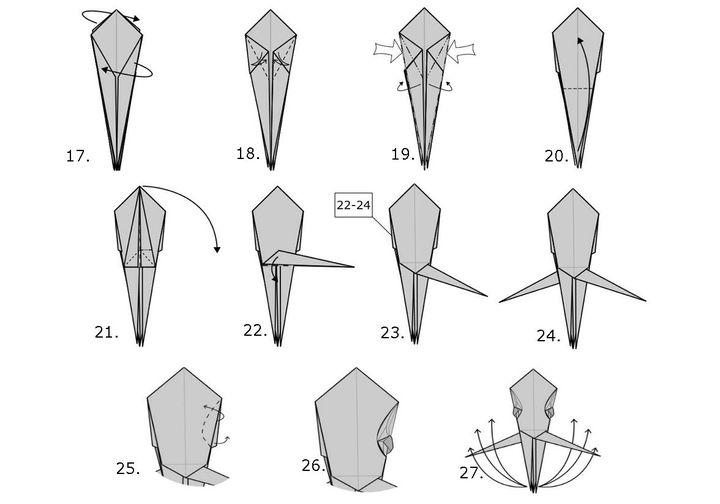 Мастер-класс по сборке модели оригами-осьминога от Ли Армстронга