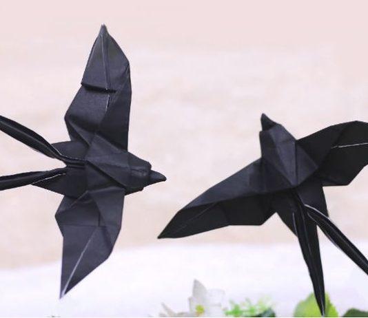 Мастер-класс по сборке мобиля с реалистическими оригами-ласточками