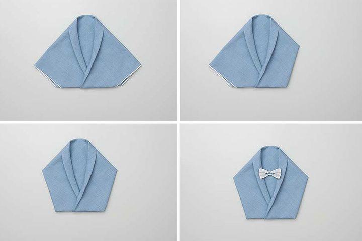 Мастер-класс по сборке короткого столовой салфетки смокинга-оригами