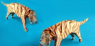 Оригами-тигр для бумажного сафари-парка