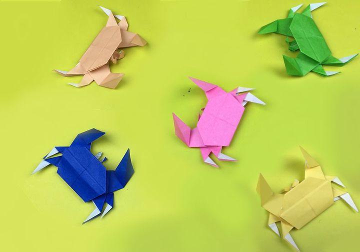 Мастер-класс сборке простой модели оригами-краба 5