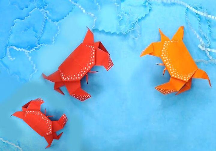 Простой краб-оригами