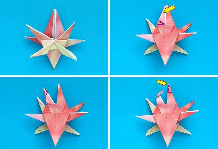 """Мастер-класс по сборке  оригами-краба """"Скрипача"""""""