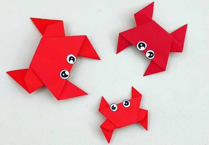 Мастер-класс сборке простой модели оригами-краба