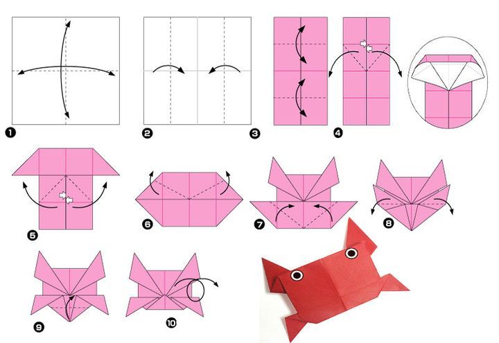 Мастер-класс сборке простой модели оригами-краба 2