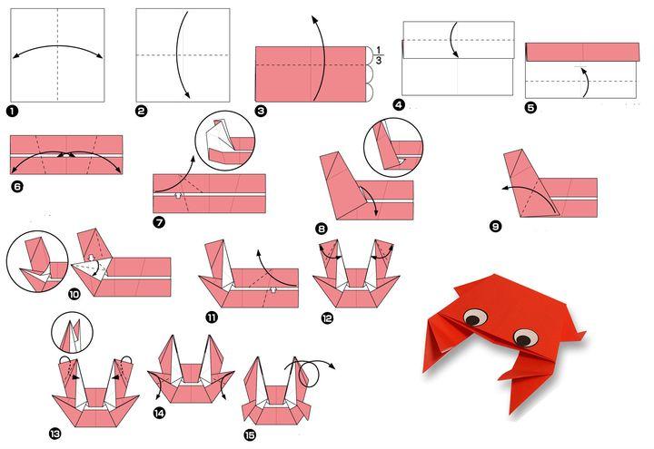 Мастер-класс сборке простой модели оригами-краба 3