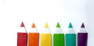 Поэтапная сборка оригами-карандаша №2