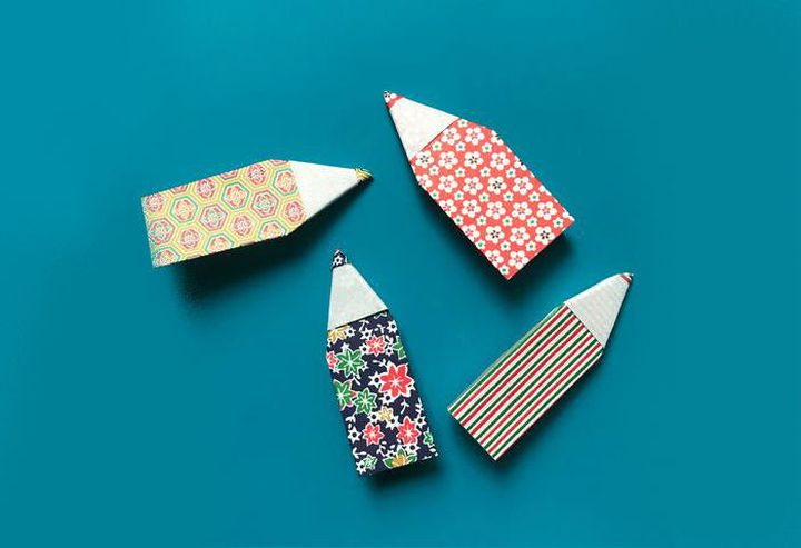 Поэтапная сборка оригами-карандаша