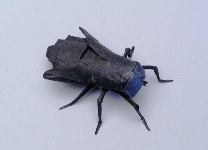 Муха-оригами 4