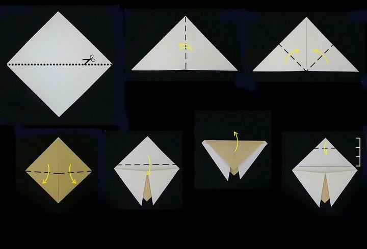 Мастер класс по сборке простой модели оригами-муха