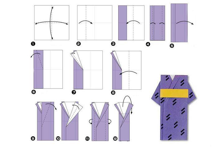 Мастер-класс по изготовлению мужского оригами-кимоно