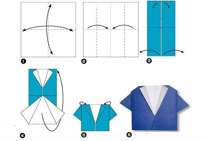 Мастер-класс по изготовлению женской оригами-блузы