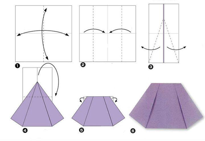 Мастер-класс по изготовлению женской оригами-юбкия