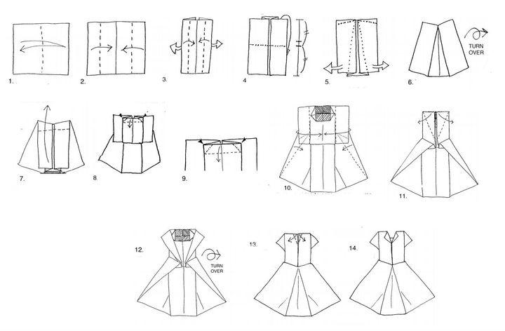 Мастер-класс по изготовлению женского оригами-платья