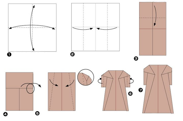 Мастер-класс по изготовлению женского оригами-пальто