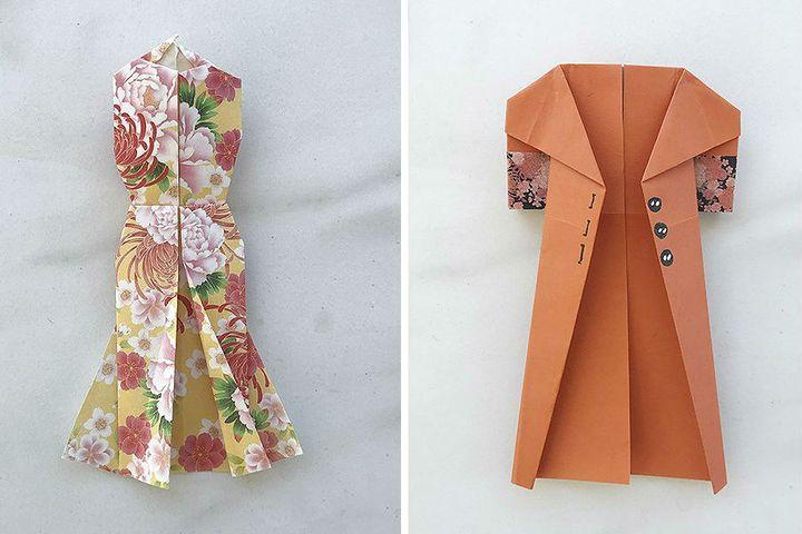 Женская одежда-оригами