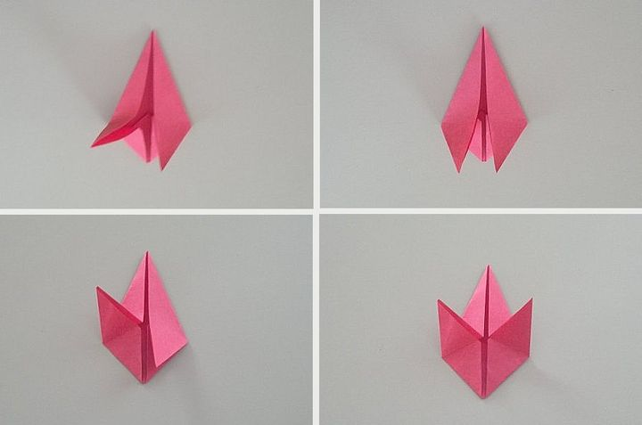 Пошаговая инструкция по сборке модульного листа клена в технике оригами
