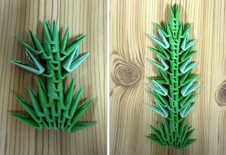 Сборка модульных оригами-водорослей