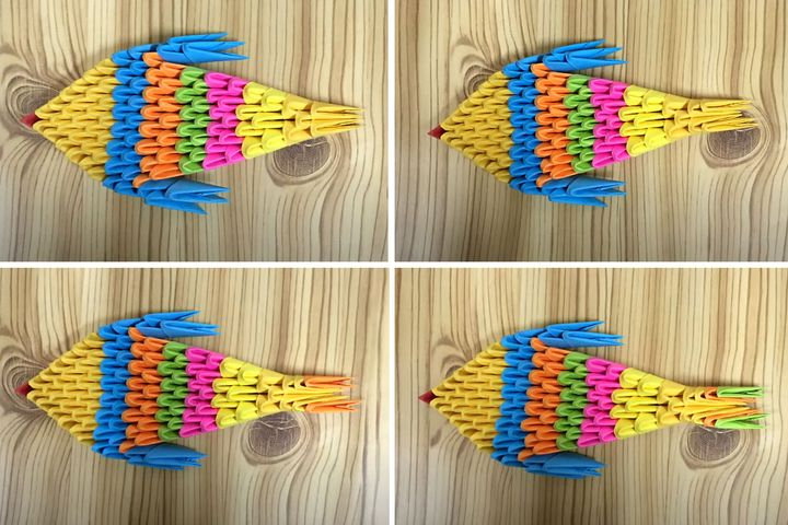 Сборка модульной оригами-рыбки