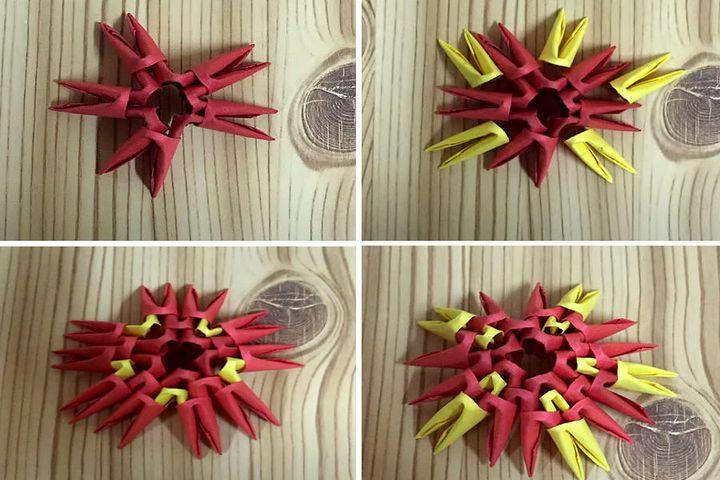 Сборка модульной оригами-морской звезды