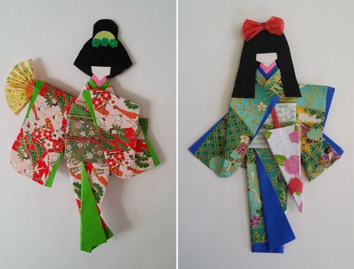 Японские куклы-оригами