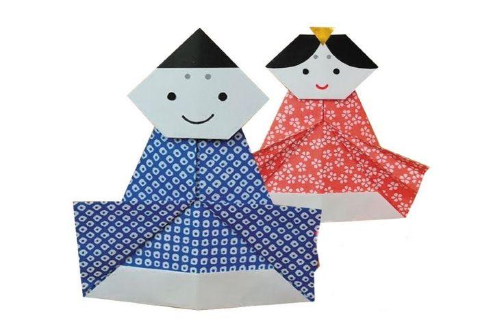 Обина и мебина в технике оригами - 2 вариант