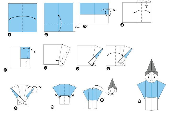 Пошаговая инструкция по сборке японских кукол обины и мебины в технике оригами для открытки