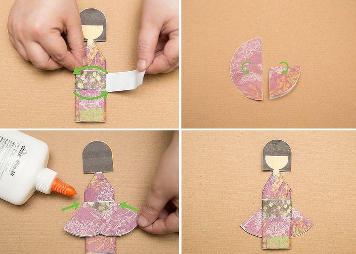 Пошаговая инструкция по сборке шиори-нингё (девочки-закладки) в технике оригами