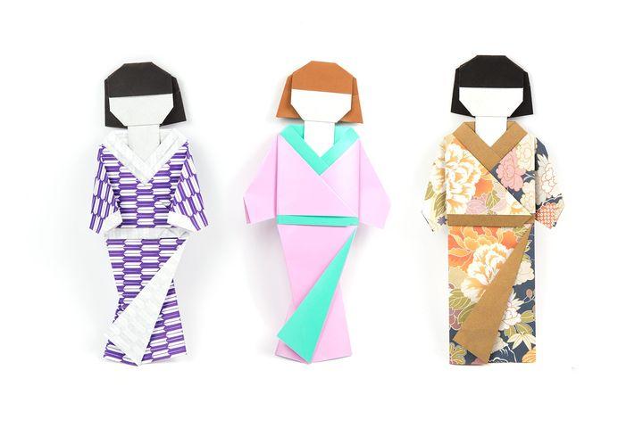 Шиори-нингё (девочка-закладка) в технике оригами