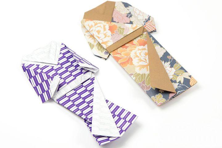 Кимоно куклы в технике оригами
