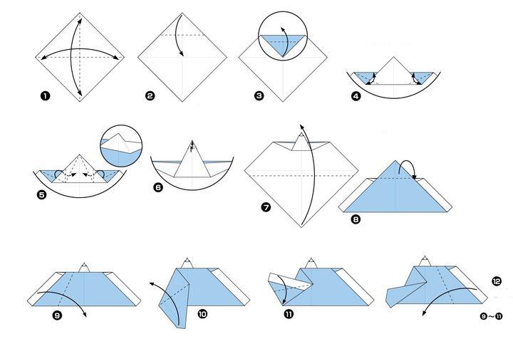 Пошаговая инструкция по сборке японской куклы обины технике оригами