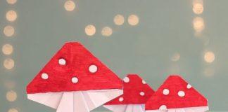 Оригами-мухомор