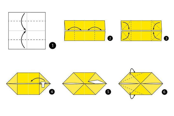 Пошаговая инструкция по сборке простой модели оригами-белочки
