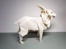 Оригами-коза