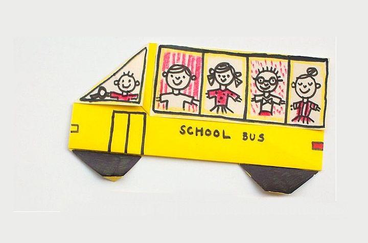Оригами-автобус