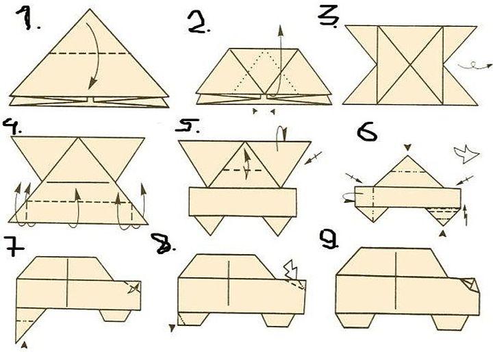 Мастер-класс по сборке оригами-внедорожника