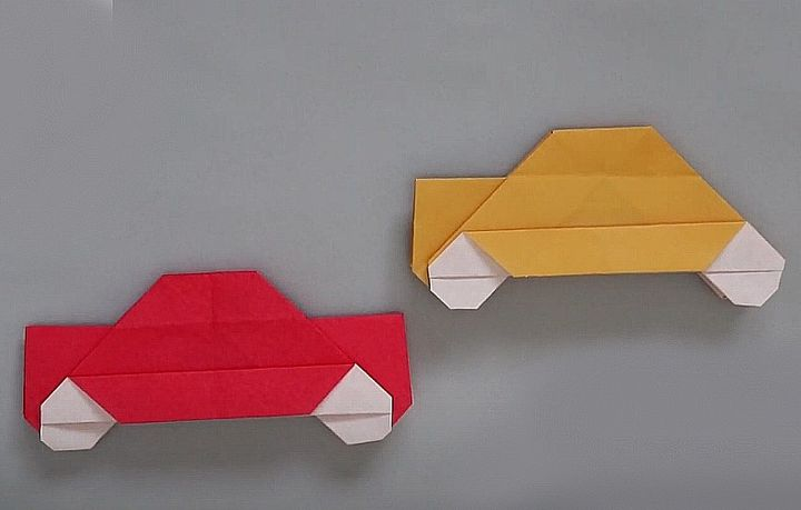 Мастер-класс по сборке оригами-седана