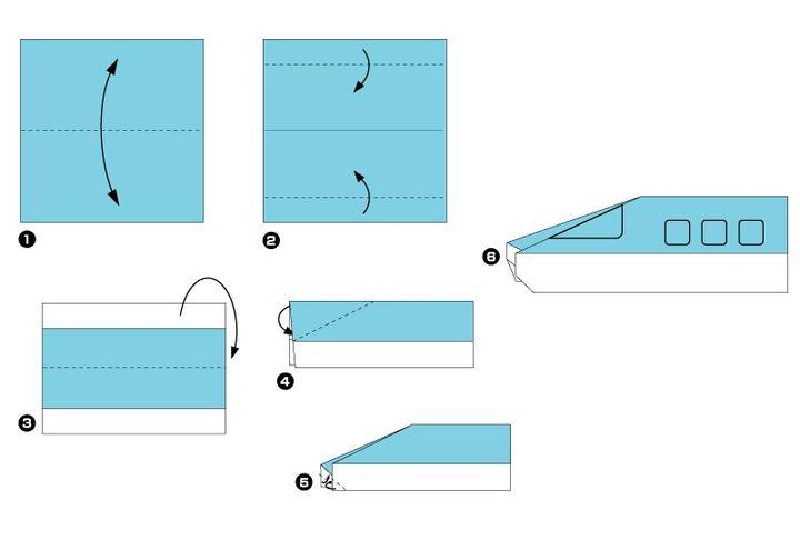 Мастер-класс по сборке поезда-оригами
