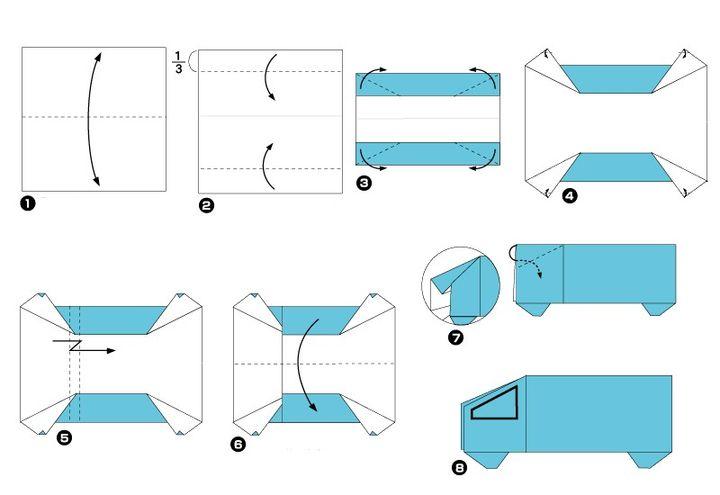 Мастер-класс по сборке грузовика-оригами