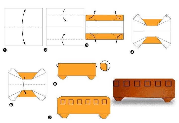 Мастер-класс по сборке вагон метро-оригами