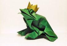 Лягушка-оригами