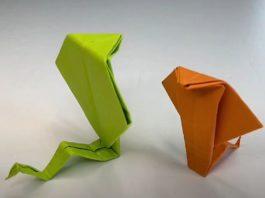 Как сделать змею-оригами из бумаги