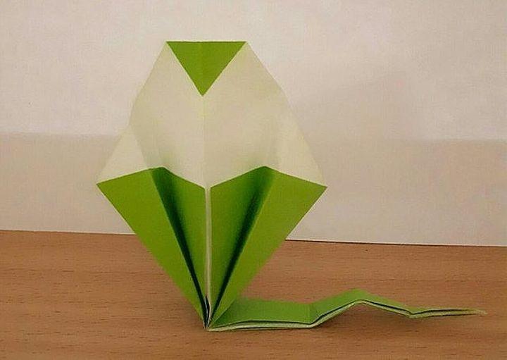 Оригами-змея