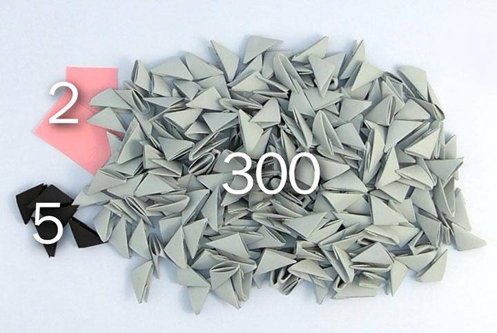 Пошаговая сборка крысы-оригами