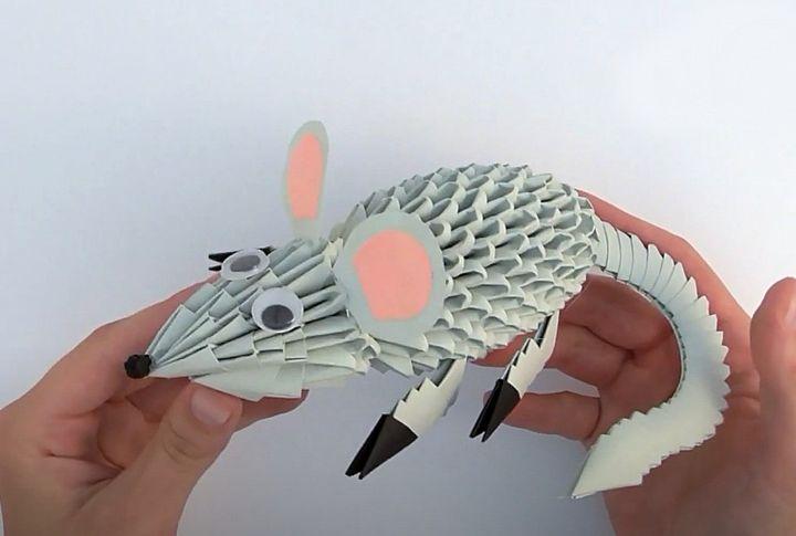 Модульная крыса-оригами