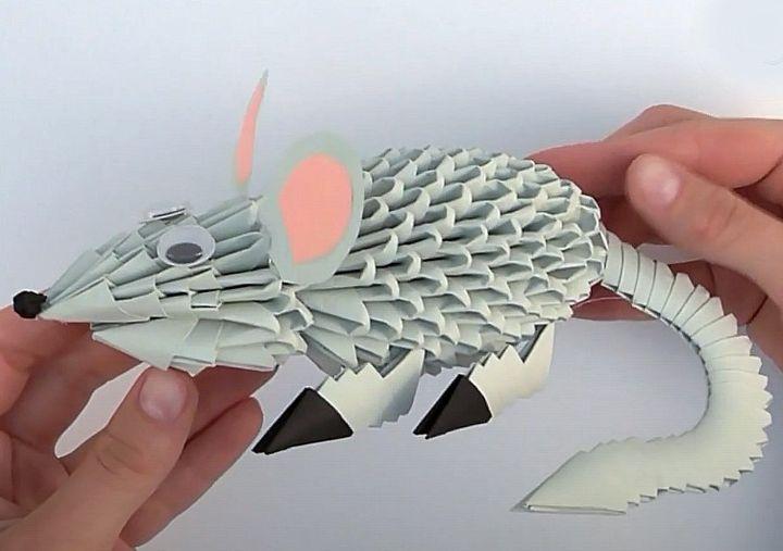 Модульное оригами крыса
