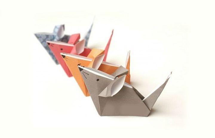Бумажные крысы-оригами
