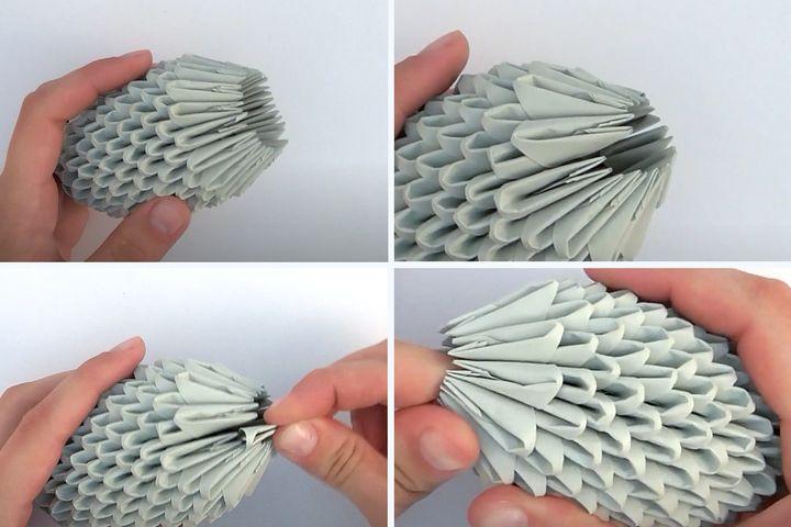 Изготовление модульной оригами-крысы